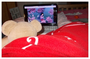 Disney, blankets and bears - perfect relaxation.