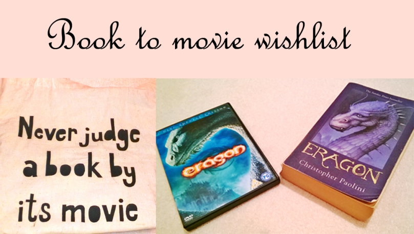Book to movie wishlist tag